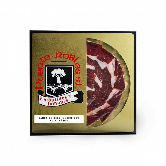 Fodder-Fed Iberian Ham cut with knife