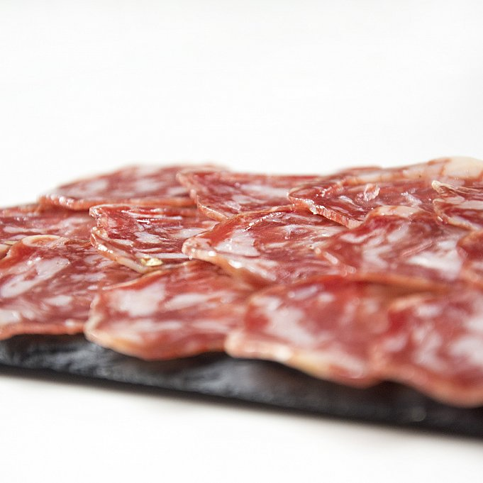 Iberian Thick-Casing Salchichon - Sliced