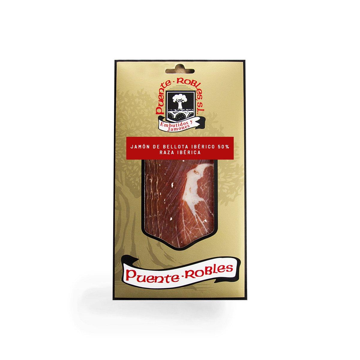 Jamón de bellota ibérico 50% raza ibérica LONCHEADO