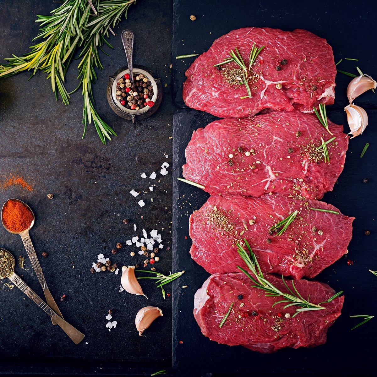Lot of Sayaguesa beef and Iberian pork