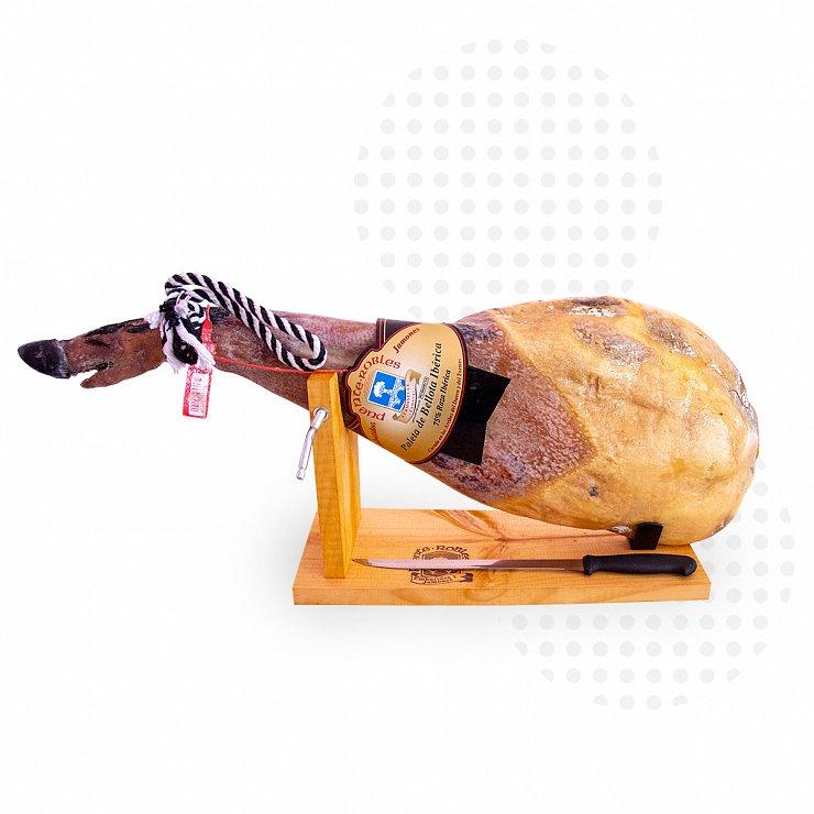 Paleta  de Bellota ibérica 75% raza ibérica de 5 kg a 5,5 kg + Jamonero GRATIS