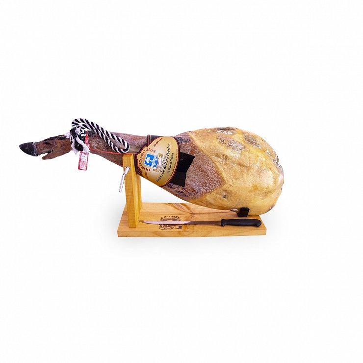Paleta de Bellota ibérica 75% raza ibérica de 5 kg a 5,5 kg + Jamonero y cuchillo GRATIS