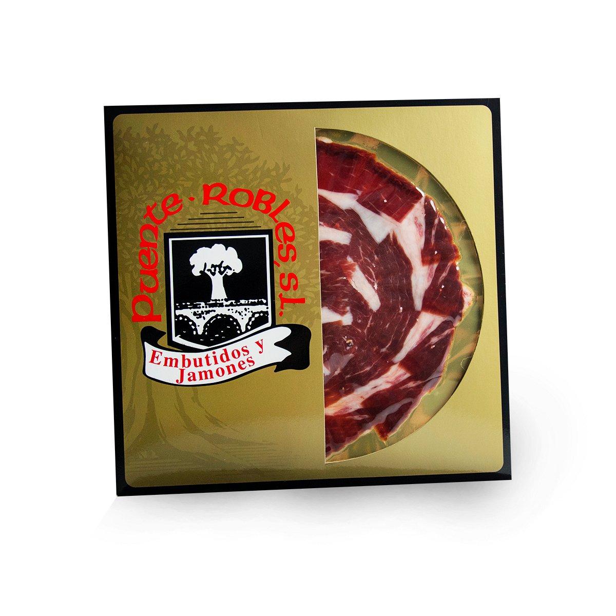 SOBRES Jamón de bellota ibérico 50% raza ibérica CORTADO a cuchillo (cortador profesional)